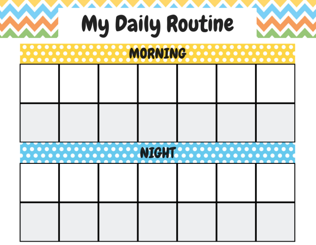 Chore Chart Template No Numbers