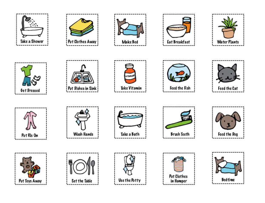 Chore Chart for Kids Icons