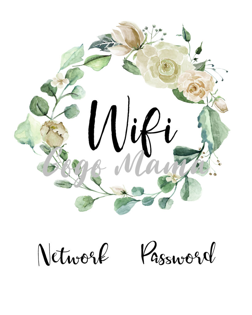 Wifi Wreath Printable