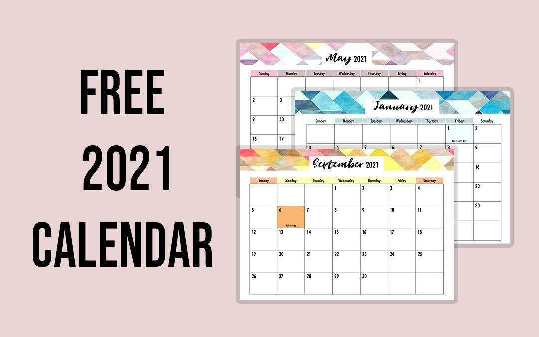 Editable 2021 Calendar Printable