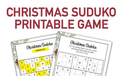 Christmas Suduko Game Printable Instructions