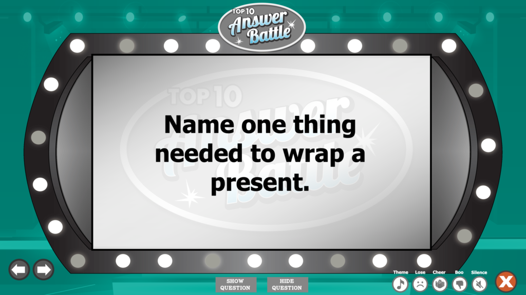 Family Feud Christmas Questions Image
